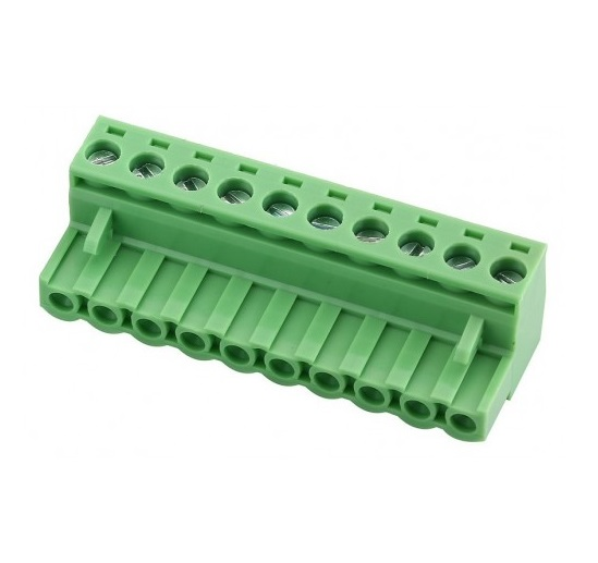 10 Pin Right Angle Screw Terminal Block Female Connector 5.08mm Pitch