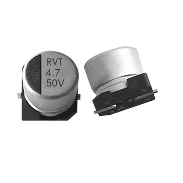 4.7uF 50V Electrolytic Capacitor–SMD–Pack of 5 sharvielectronics.com