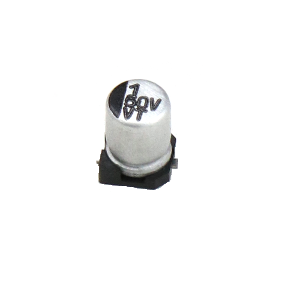 1uF 50V Electrolytic Capacitor–SMD–Pack of 5 sharvielectronics.com