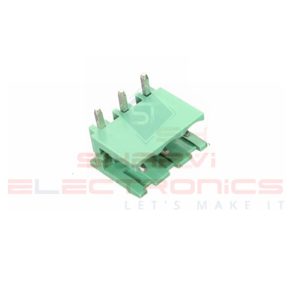 3 Pin Right Angle PCB Mount Male Terminal Block Connector 5.08mm Pitch Sharvielectronics