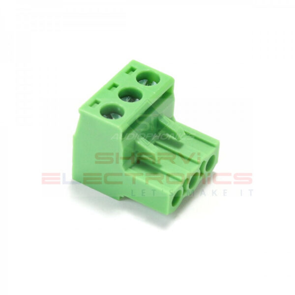3 Pin Right Angle Screw Terminal Block Female Connector 5.08mm Pitch_Sharvielectronics