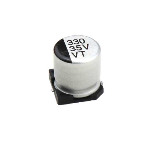 330uF 35V Electrolytic Capacitor–SMD–Pack of 5 sharvielectronics.com