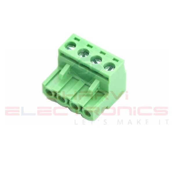 4 Pin Right Angle Screw Terminal Block Female Connector 5.08mm Pitch Sharvielectronics