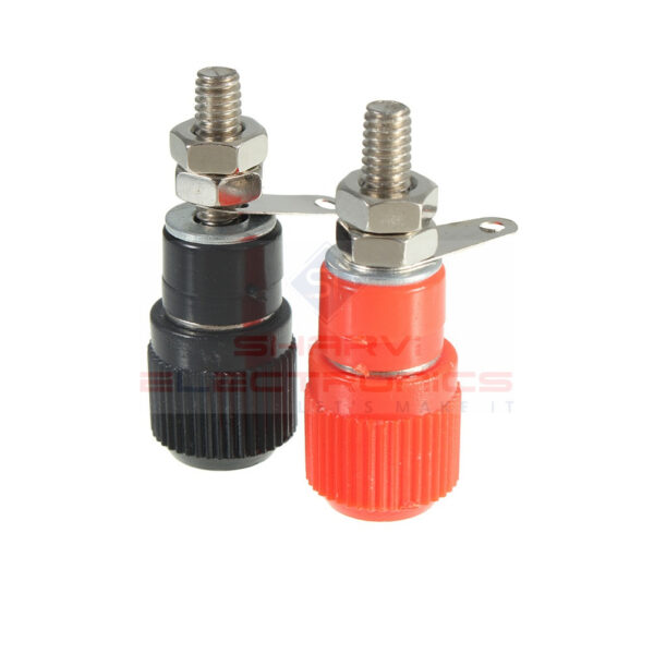 4mm Banana Socket Terminal Binding Post Banana Plug Jack Connector Red And Black-1 Pair sharvielectronics.com