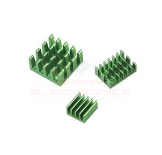 Green 3 in 1 Heat Sink Set Aluminum for Raspberry Pi 4 Model B sharvielectronics.com