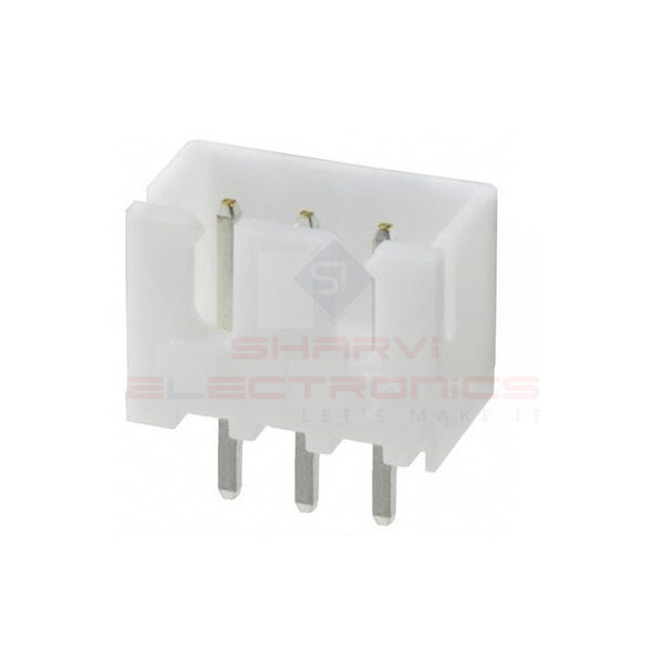 JST-XH 3 Pin Connector (3 Pin Male Relimate Polarized Connector) sharvielectronics.com