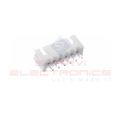 JST-XH 6 Pin Connector (6 Pin Male Relimate Polarized Connector) sharvielectronics.com