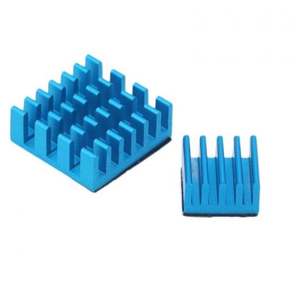 Set of Blue Aluminum Heatsink for Raspberry Pi sharvielectronics.com