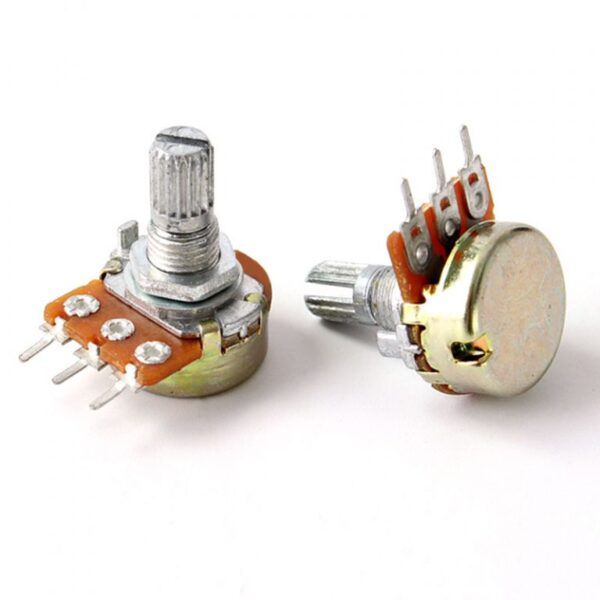 10K Ohm 3Pin 15mm Shaft Potentiometer sharvielectronics