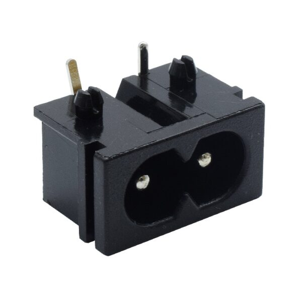 2 Pin AC Power Socket PCB Mount AC Power Connector