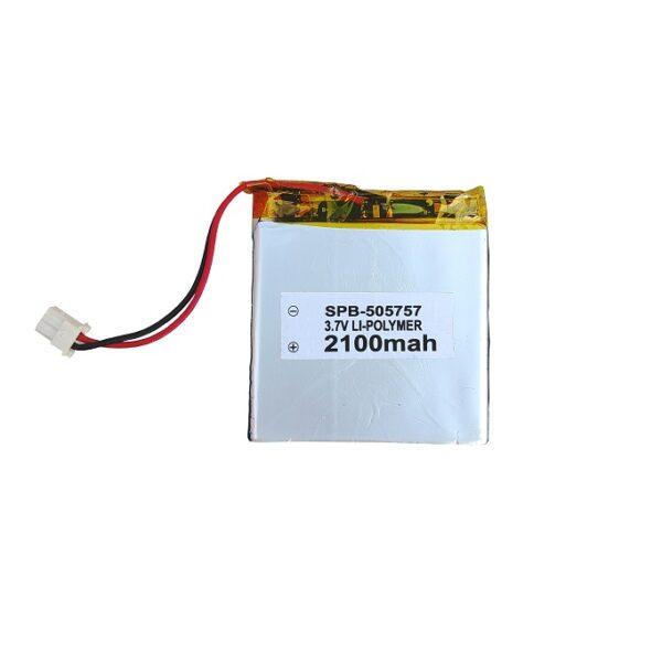 3.7V 2100mAH (Lithium Polymer) Lipo Rechargeable Battery Model SPB-505757