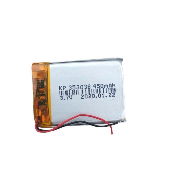 Lipo Rechargeable Battery-3.7V/450mAH Model-KP-353038