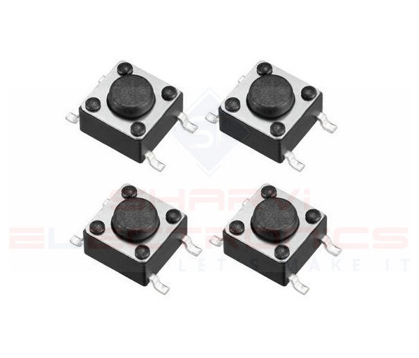 4 Pin SMD Momentary Mini Tact Tactile Push Button Switch 4.5x4.5x3.5mm-Pack of 4 sharvielectronics.com