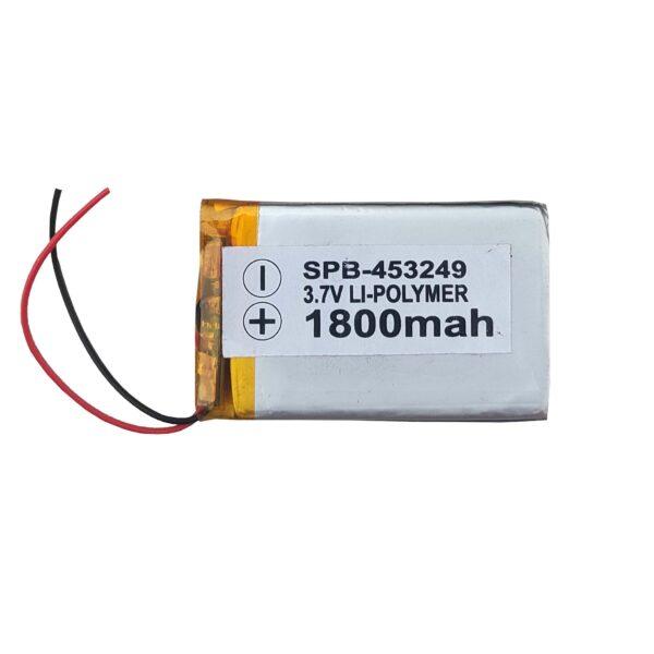 Lipo Rechargeable Battery-3.7V/1800mAH Model-KP-453249
