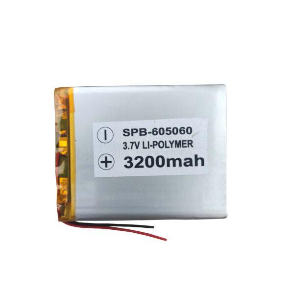 Lipo Rechargeable Battery-3.7V/3200mAH Model-KP-605060