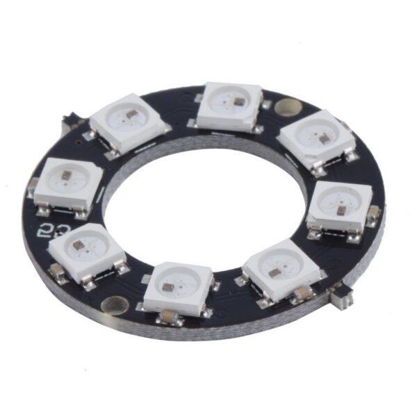 8 Bit WS2812 5050 RGB LED Built-in Full Color Driving Lights Circular Development Board sharvielectronics.com
