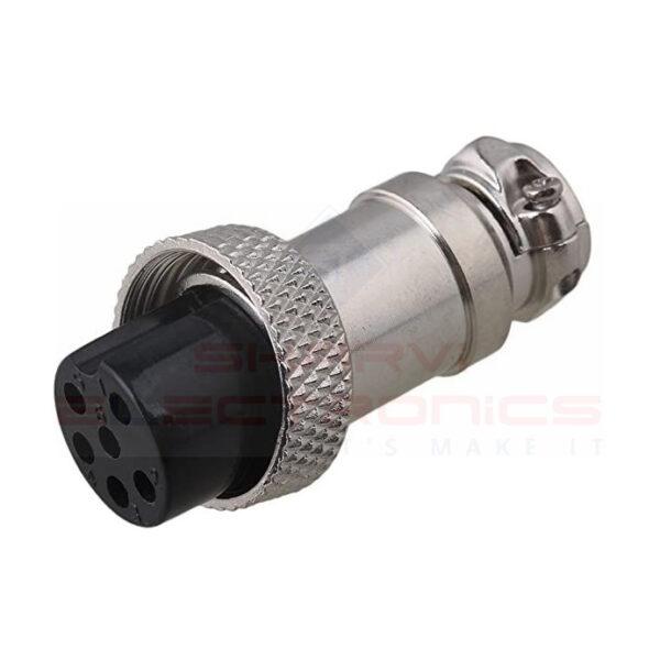 AVIATION PLUG (6 Pin Male And Female) sharvielectronics.com