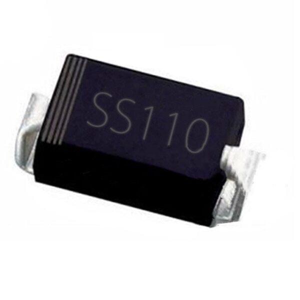 SS110 SMA 100V1A Schottky Diode SMD Package-DO-214AC