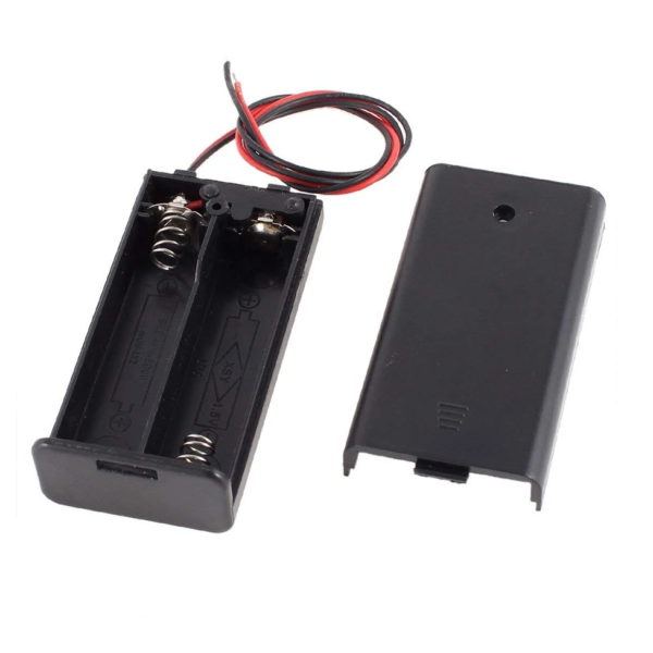 2xAA 1.5V Battery Holder With Cover and ON/OFF Switch