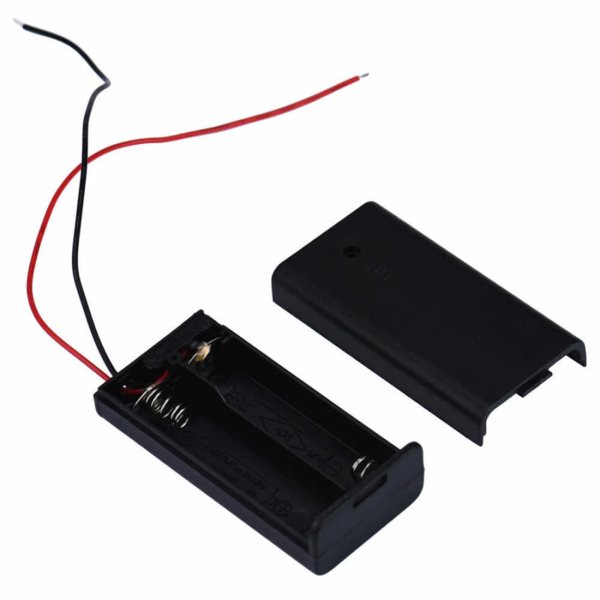 Sharvielectronics: Best Online Electronic Products Bangalore | 2 x 1.5V AA Battery Holder With Cover and ONOFF Switch Sharvielectronics | Electronic store in bangalore