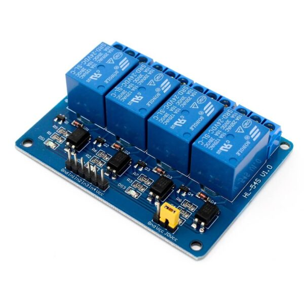 24V 4 Channel Relay Module Sharvielectronics