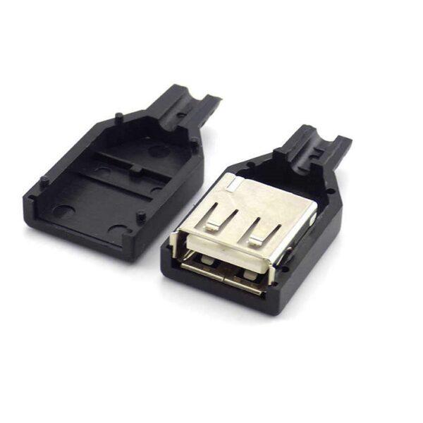 USB Diy Slim Connector Shell-A Female Plug USB 2.0_Sharvielectronics