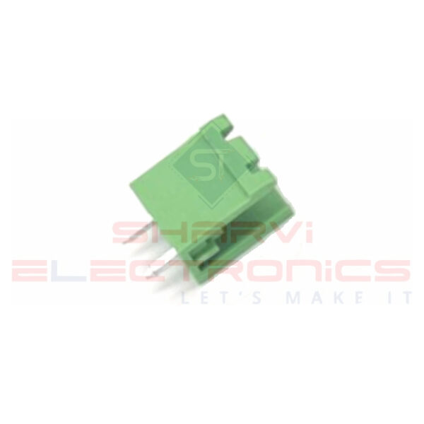 2 Pin Straight PCB Mount Male Terminal Block Connector 5.08mm Pitch Sharvielectronics