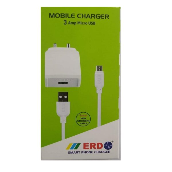 ERD 5V 3A Adapter With 1 Meter Micro USB Cable-Sharvielectronics