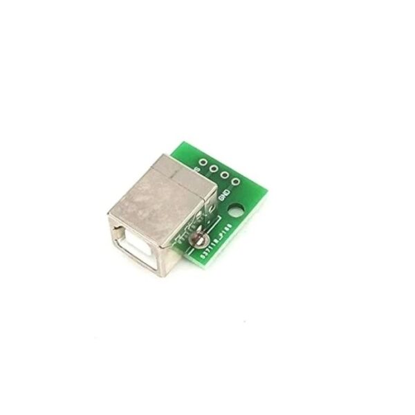 USB Type-B Female Head to DIP 4 pin Breakout PCB Module sharvielectronics.com