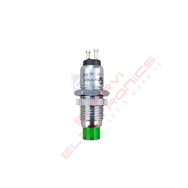 12V Green LED Panel Mount Indicator sharvielectronics.com