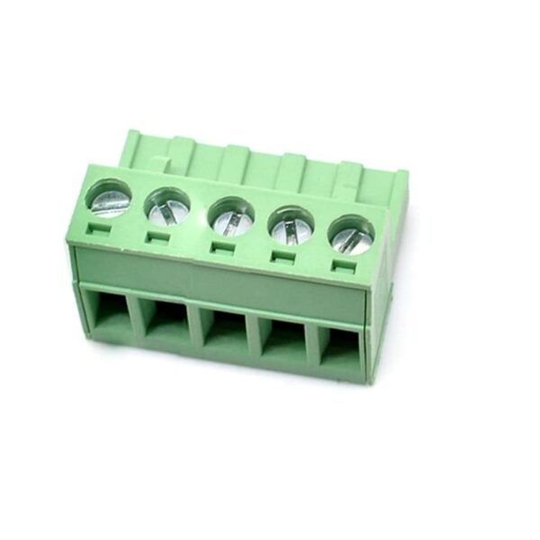 5 Pin Right Angle Screw Terminal Block Female Connector 5.08mm Pitch