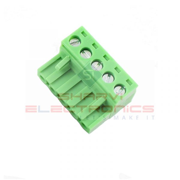 5 Pin Right Angle Screw Terminal Block Female Connector 5.08mm Pitch Sharvielectronics