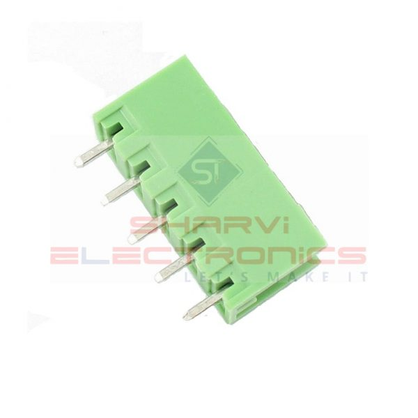 5 Pin Straight PCB Mount Male Terminal Block Connector 5.08mm Pitch Sharvielectronic