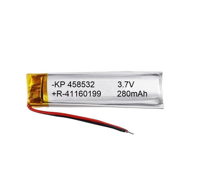 Lipo Rechargeable Battery-3.7V/280mAH-KP-458532 Model