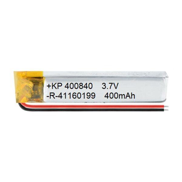 Lipo Rechargeable Battery-3.7V400mAH-KP-400840 Model