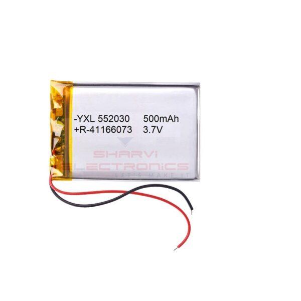 Lipo Rechargeable Battery-3.7V/500mAH-YXL-552030 Model