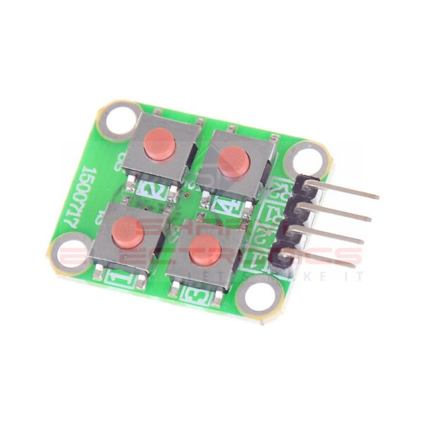 2 x 2 Matrix 4 Push Button Keyboard Module Sharvielectronics