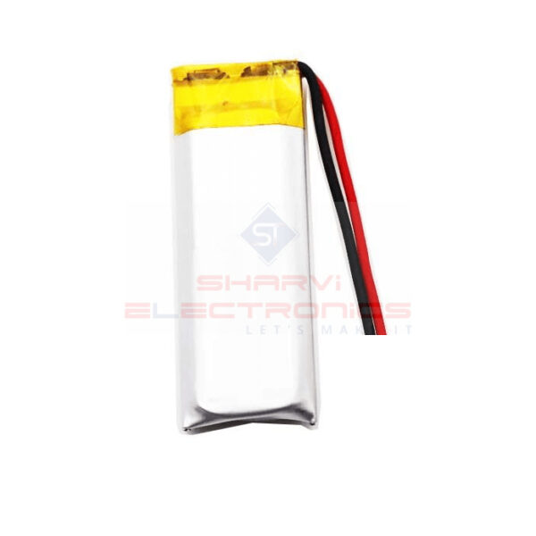 3.7V 300mAH (Lithium Polymer) Lipo Rechargeable Battery Model 401522_Sharvielectronics