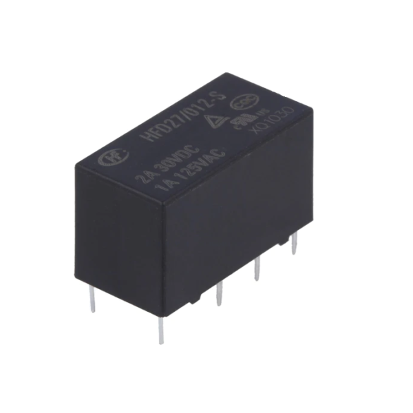 HFD27012-S 12V 2A DPDT Relay PCB Mount Sharvielectronics