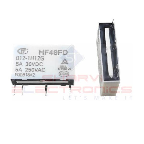 Hongfa HF49FD-012-1H12G 12VDC 5A SPST Miniature High Power Relay SHarvielectronics