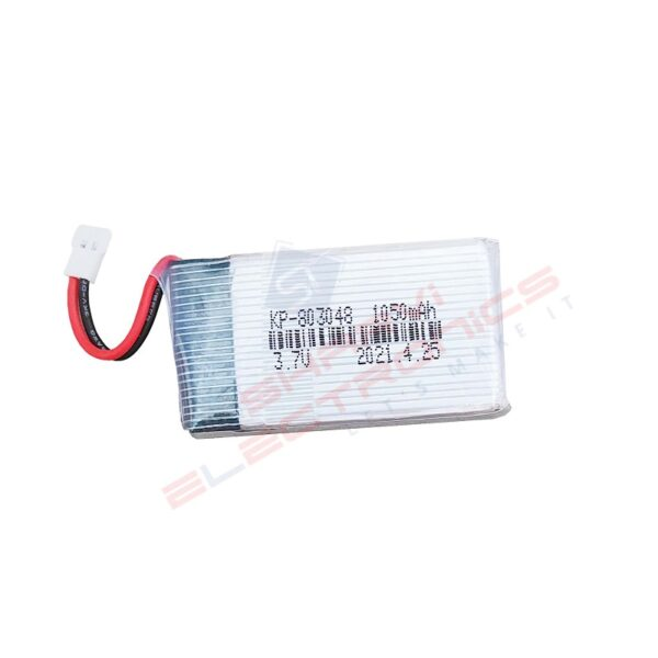 Lipo Rechargeable Battery-3.7V 1050mAH-For RC Drone Sharvielectronics.com