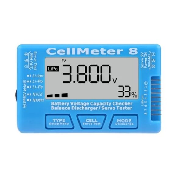 Cellmeter 8 Multi-Functional Digital Power Servo Tester Sharvielectronics