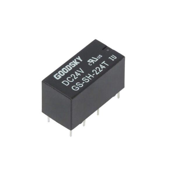 GS-SH-224D GOODSKY DPDT 24V 2A PCB Mount Relay SHarvielectronics