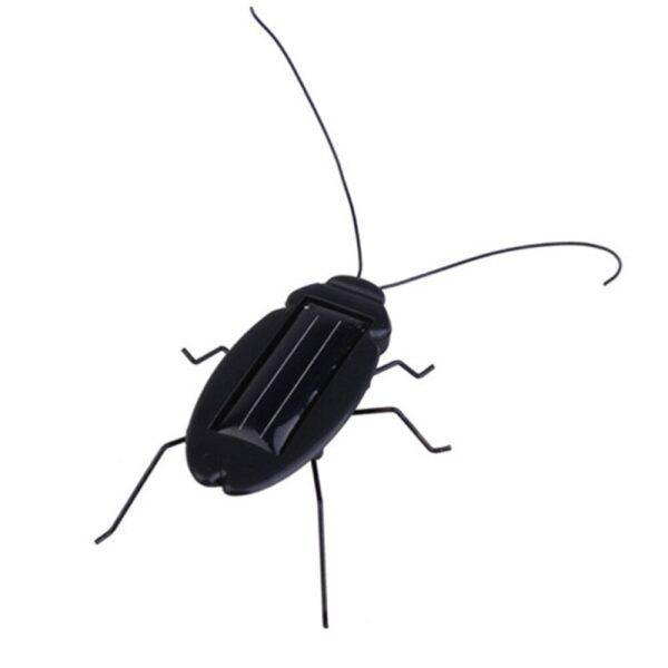 Solar Powered Vibrating Black Cockroach Bug Sharvielectronics