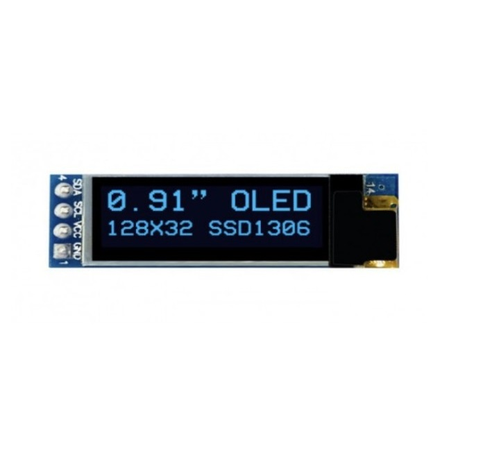 0.91 inch 128×32 Blue OLED Display Module With I2C-IIC Serial Interface-Sharvielectronics