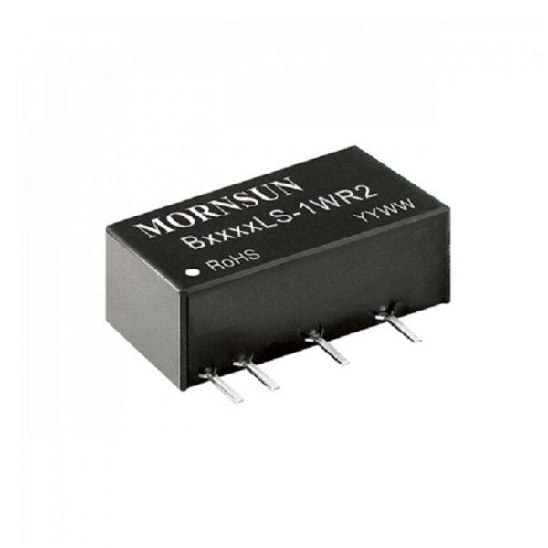 B1212LS-1WR2 Mornsun 12V to 12V DC-DC 1 Watt Converter Power Supply Module - Ultra Compact SIP Package sharvielectronics