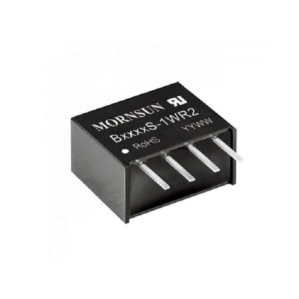 B2424S-1WR2 Mornsun 24V to 24V DC-DC Converter 1 Watt Power Supply Module - Compact SIP Package