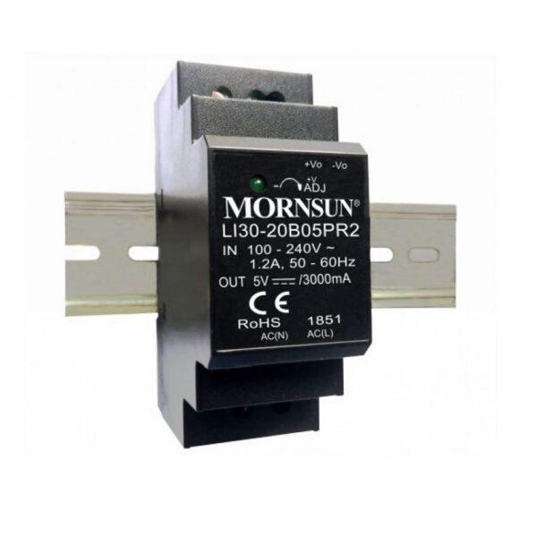 LI30-20B05PR2 Mornsun SMPS - 5V 3A 15 Watt AC-DC DIN Rail Power Supply Sharvielectronics