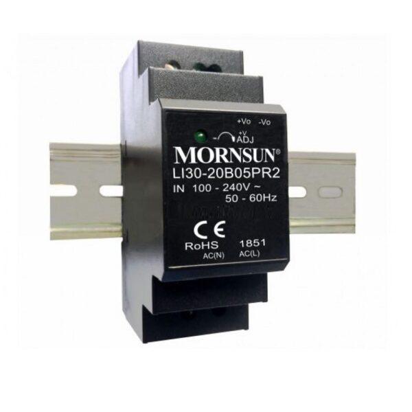 LI30-20B24PR2 Mornsun SMPS - 24V 1.5A 36 Watt AC/DC DIN Rail Power Supply