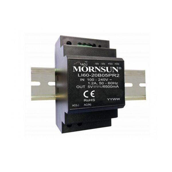 LI60-20B24PR2 Mornsun SMPS - 24V 2.5A 60 Watt AC/DC DIN Rail Power Supply